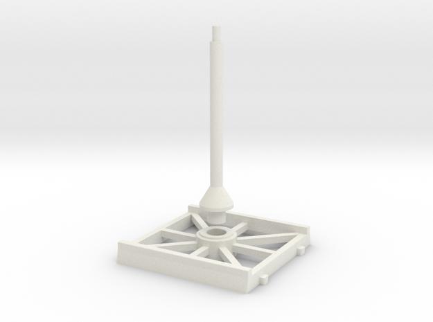SW Base 40x40mm / LIGHT in White Natural Versatile Plastic
