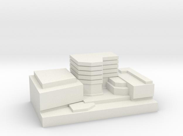 Entertainment District Custom Board Game Piece  in White Natural Versatile Plastic