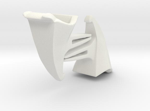 Voituré 'V' - Car Interior Flower Pot - 2 Set in White Natural Versatile Plastic