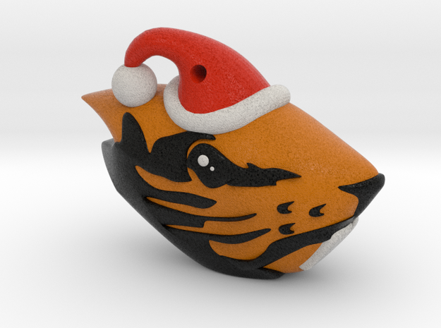 Oregon State Beaver Santa Ornament in Full Color Sandstone