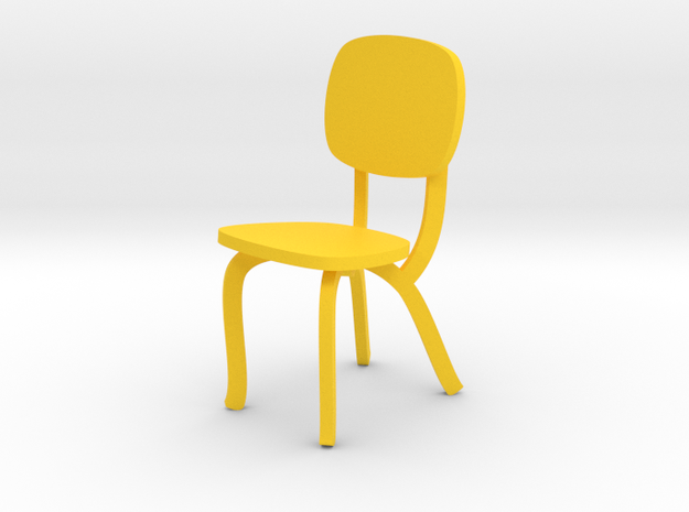 FAIRLINE CHAIR by RJW Elsinga 1:10 in Yellow Processed Versatile Plastic