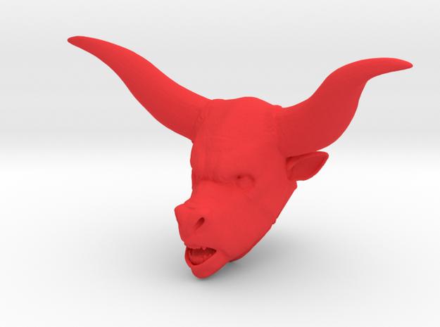 Minotaur in Red Processed Versatile Plastic