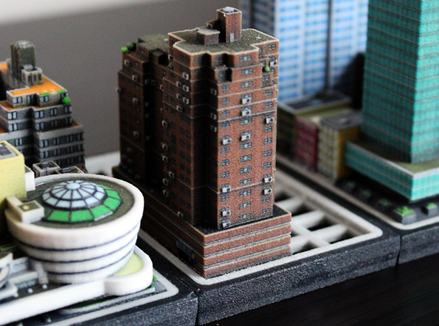 New York Set 3 building A 5 x 2 in Full Color Sandstone