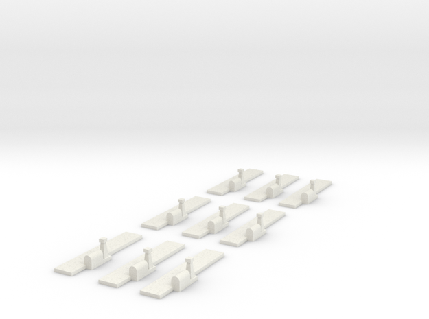 Airfields straight runways x9 in White Natural Versatile Plastic