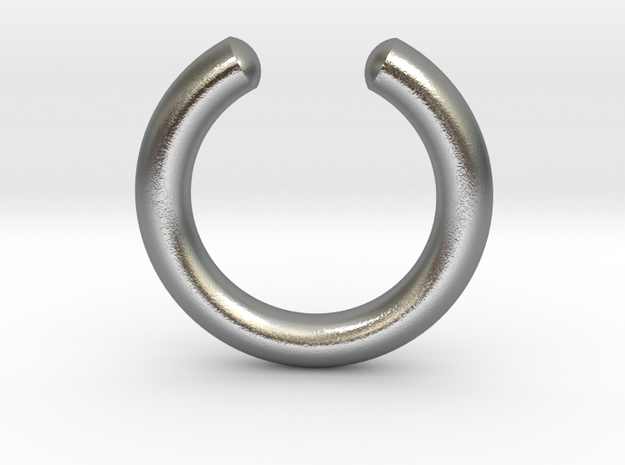 Simple Faux Septum Ring in Polished Bronze Steel