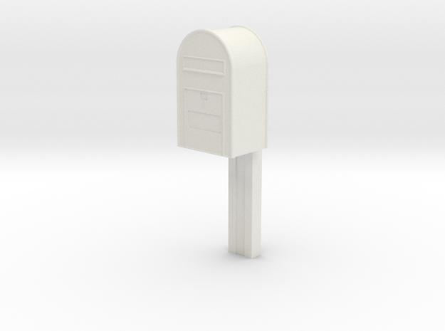 1/32 - Post Danmark - Postkasse på stang in White Natural Versatile Plastic