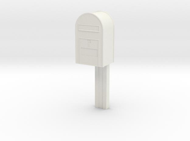 1/120 - Post Danmark - Postkasse på stang in White Natural Versatile Plastic