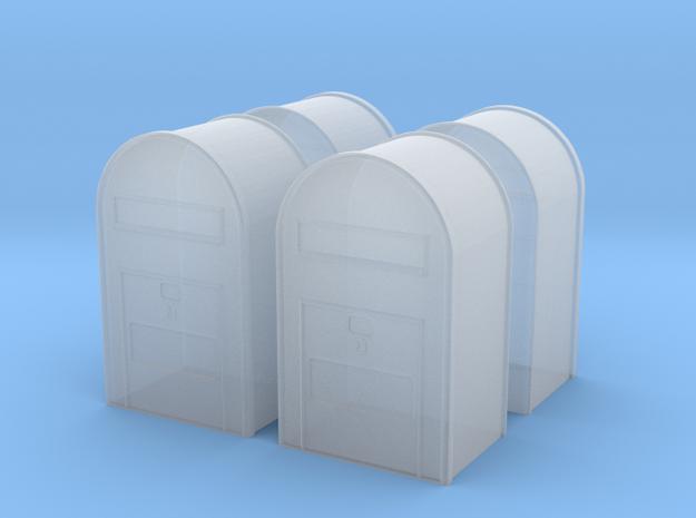 4 x 1/160 - Klassisk Dansk Postkasse in Smooth Fine Detail Plastic