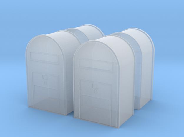 4 x 1/120 - Klassisk Dansk Postkasse in Smooth Fine Detail Plastic