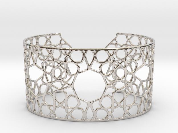 Silver Cairo Arab Bracelet 3d printed