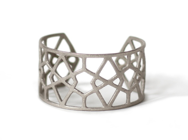 Egyptian Cuff Bracelet in Polished Nickel Steel
