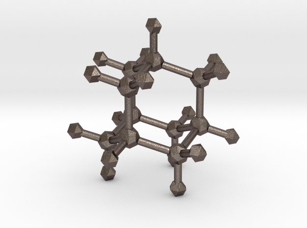 Adamantane in Polished Bronzed Silver Steel