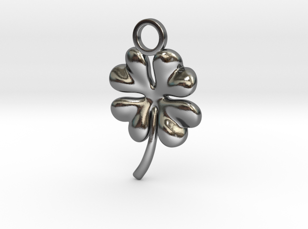 Clover earring in Fine Detail Polished Silver