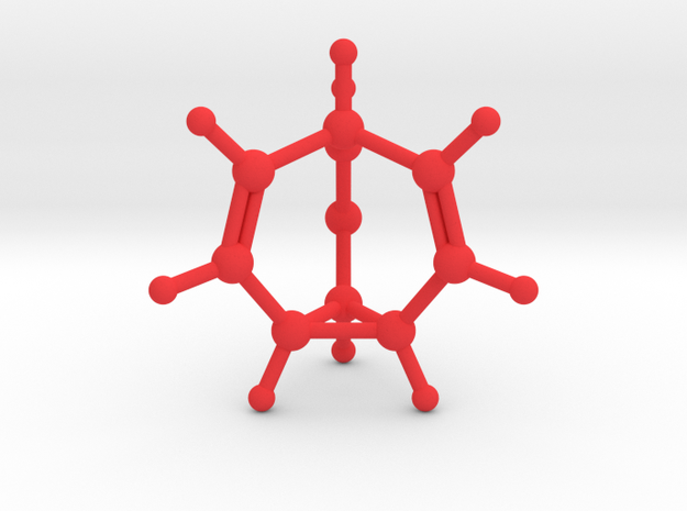 Bullvalene in Red Strong & Flexible Polished
