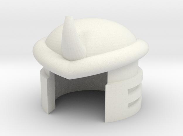 Robohelmet: Boom-flap in White Natural Versatile Plastic