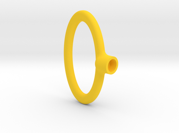 Key Handle Top (2 of 9) in Yellow Strong & Flexible Polished