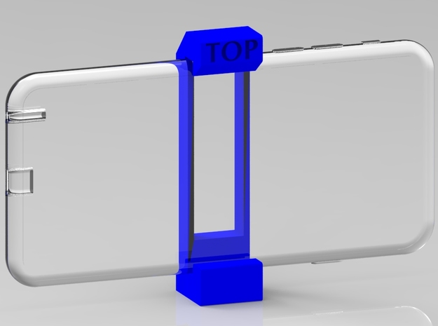 iPhone 6 Plus Tripod Mount in Blue Processed Versatile Plastic