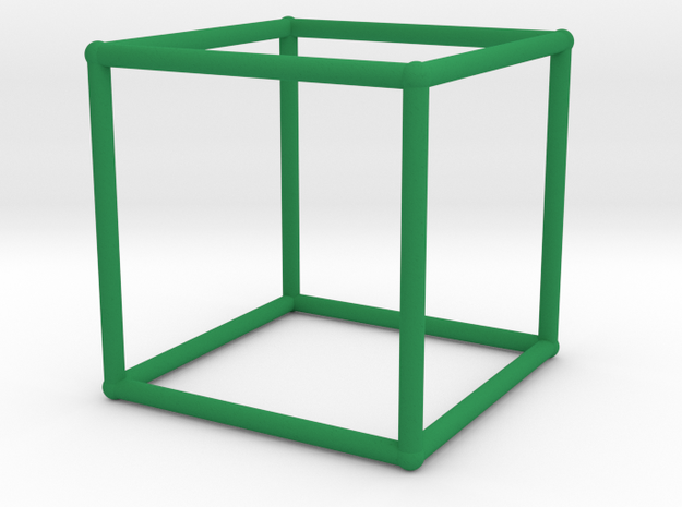 Cube (100 cc) in Green Processed Versatile Plastic