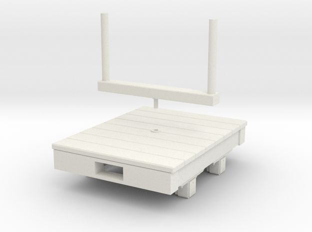 Gn15 small 4ft bolster wagon  in White Natural Versatile Plastic