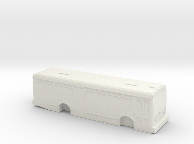 HO scale TMC citycruiser T-30 (Orion I) solid in White Natural Versatile Plastic