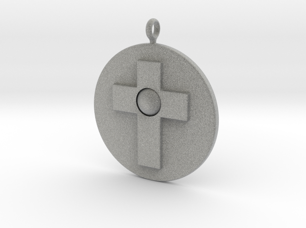 Cross pendant in Metallic Plastic