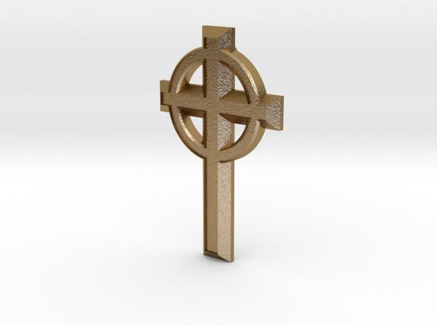 Smykke - Keltisk kors vedhæng in Polished Gold Steel