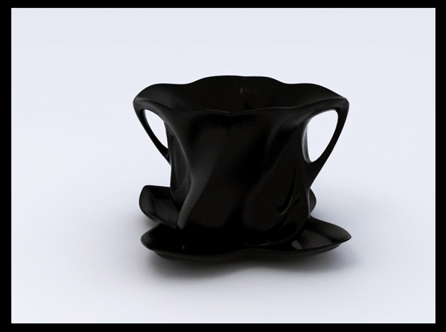 Blooming Teacup Saucer 3d printed