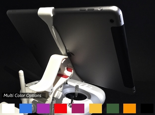 iPad Air Vector (V2) Remote Mount for DJI Phantom in White Strong & Flexible