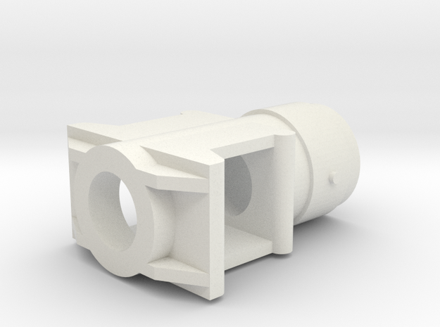 1/16 M50 Super Sherman Muzzlebrake in White Natural Versatile Plastic