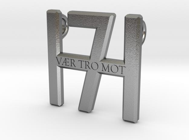 Smykke - Vær tro mot H7 vedhæng (lille) in Natural Silver
