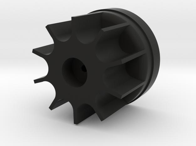 Bruder Delta Loader: Wheel hub in Black Natural Versatile Plastic