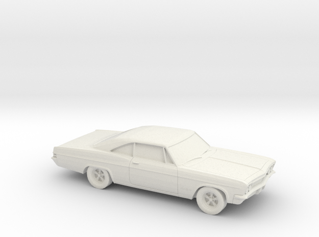 1/87 1966 Chevrolet Impala SS in White Natural Versatile Plastic