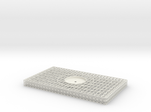 Stern Platform Upper Single Unit V0.3a (repaired) in White Natural Versatile Plastic