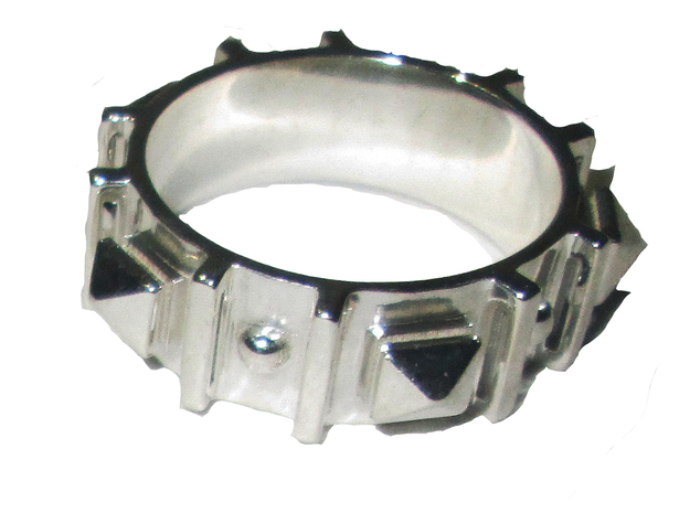 Edwardian Guard II Ring - Sz. 9 in Fine Detail Polished Silver