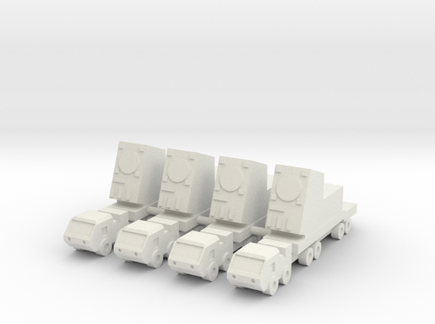 2 Inch MIM-104 Patriot Missile RADAR (x4) in White Natural Versatile Plastic