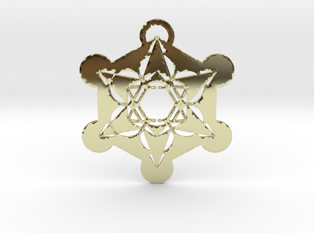 Metatrons Cube  in 18k Gold