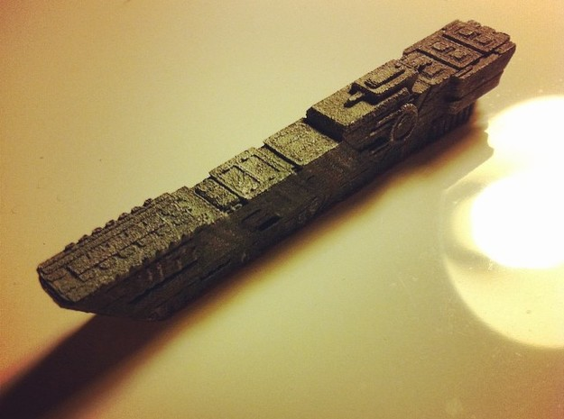 Judgement class - capital ship in White Natural Versatile Plastic