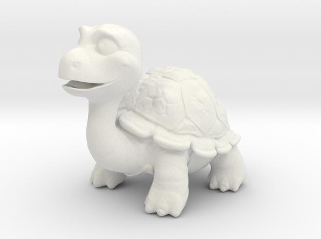 Turty the Turtle in White Natural Versatile Plastic