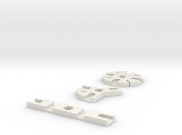 Iceblock Stick Joiners (set of 3) in White Natural Versatile Plastic