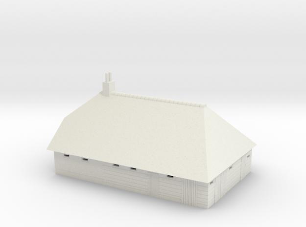 Giethoorn boerderij / farm in schaal 1:160 in White Natural Versatile Plastic