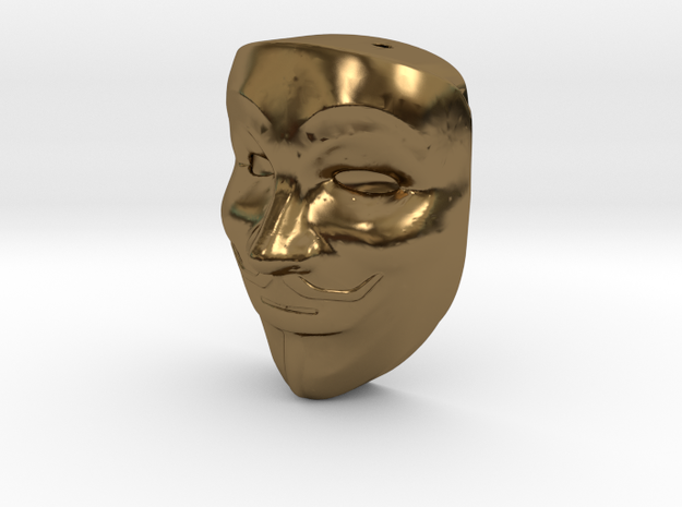 Anonymous pendant 3d printed