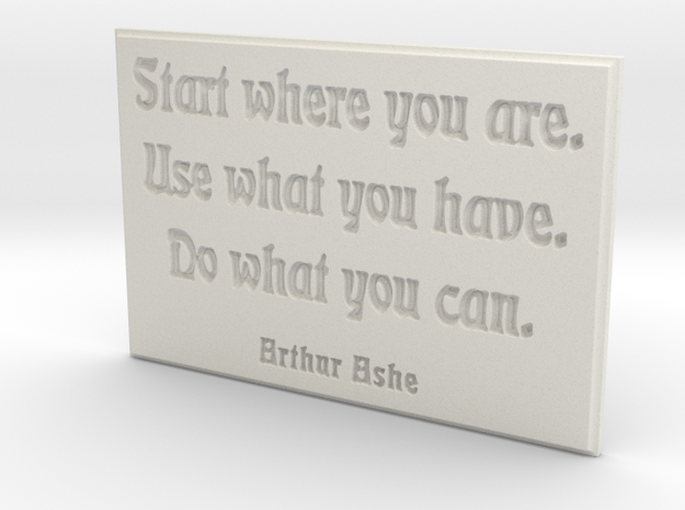 Start where you are in White Natural Versatile Plastic