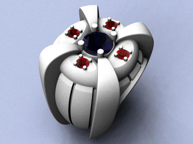 Ring of Truth -  Gem  - Size 12 (21.49 mm) in Natural Silver
