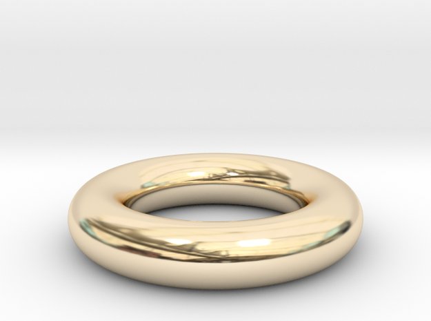 Toroidal ring in 14K Yellow Gold
