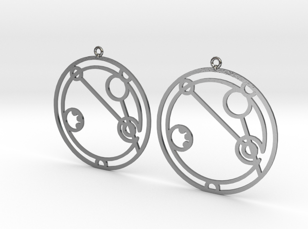Abigail - Earrings - Series 1 in Polished Silver
