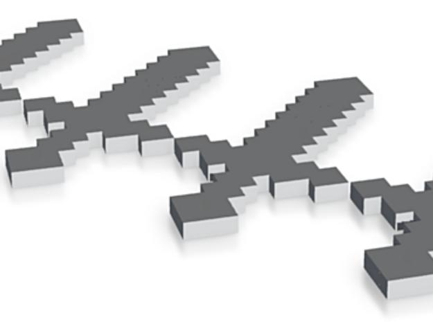 Minecraft Swords #Minecraft 3d printed