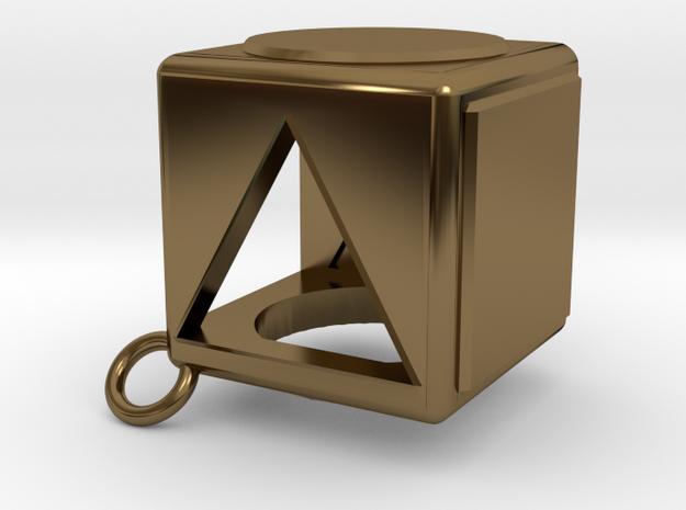 Shape Sorter Box Cube Pendant Keyring