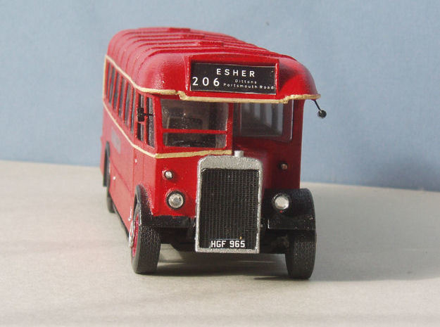 1:43 London Transport TD (TD1-TD31) Bus  in White Natural Versatile Plastic