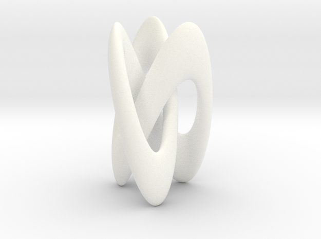 Trifold Knot - Smooth in White Processed Versatile Plastic