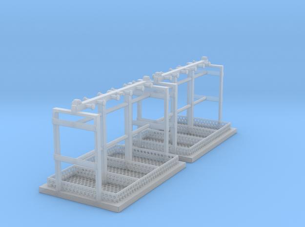 1/87 Schäkeltransportgestell 2er in Smooth Fine Detail Plastic